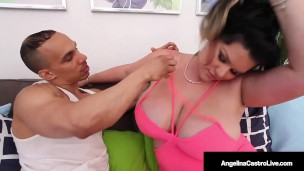 Cock Milking Cuban BBW Angelina Castro Takes A Plump Pussy Pounding!